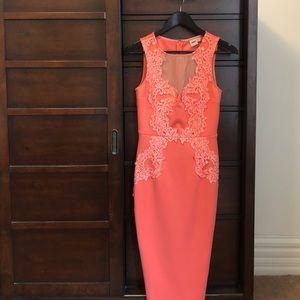 ASOS dress, body con, lace detail size USA 4